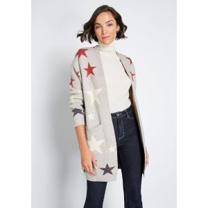 From Star to Finish Oversized Cardigan
