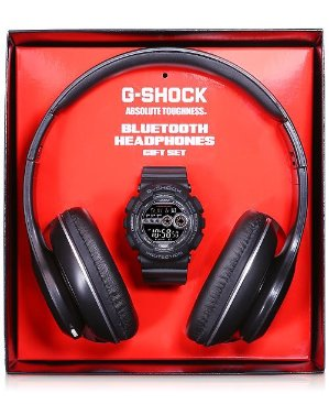 $99G-Shock GD100-1BBTS + 蓝牙耳机 礼品装