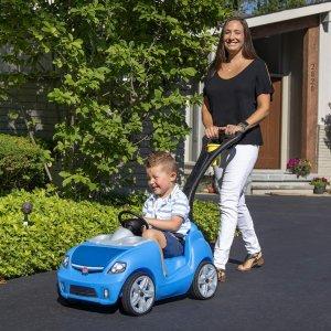$79.97(原价$109.97)史低价:STEP2 蓝色汽车四轮推乘车 妈妈单手遛娃很方便