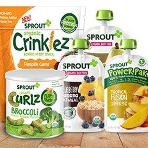 低至6折 + 包邮Sprout 有机婴儿辅食、零食促销