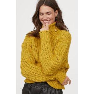 H&MRib-knit Turtleneck Sweater