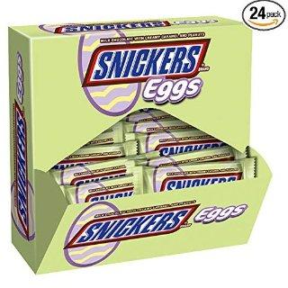 $14.89 一条只需$0.62SNICKERS复活节巧克力蛋 1.1Oz 24条