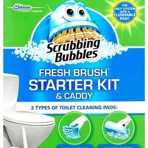 $4.27 含手柄替换头支架Scrubbing Bubbles 马桶清洁刷 一次性刷头 干净不沾手