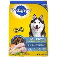 Pedigree 鸡肉火鸡味高蛋白质狗粮 17lb