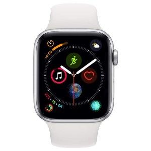 运通卡用户低至$332Apple Watch Series 4 (GPS, 44mm) 铝制表盘+白色运动表带