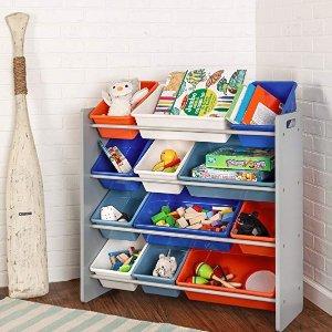 $48(原价$136.99)+包邮Honey-Can-Do 儿童玩具收纳架,12个收纳盒