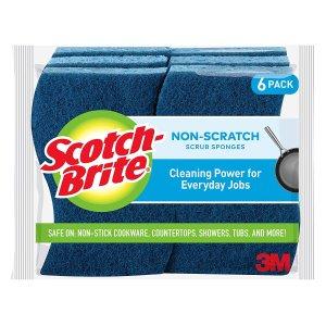 Scotch-Brite 防刮清洁海绵 6块