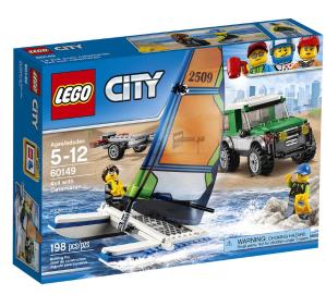 $12.98 (原价$19.99)LEGO City 乐高城市系列四驱车和双体船积木套装 (60149)