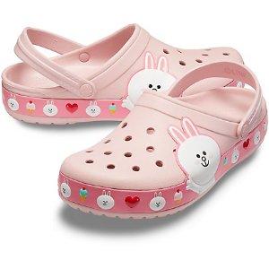 满$100减$20 收Line Friends新款Crocs官网 精选夏季新款洞洞凉鞋促销