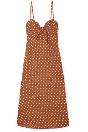 Faithfull The Brand Fiscardo polka-dot linen midi dress