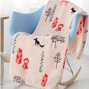 多款$9.99低价回归补货:Simons 舒适质感薄毯  收萌萌小动物系列