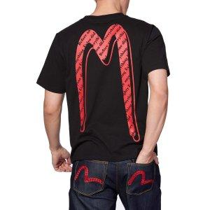 Evisu满3件享额外8折Allover Logo大M T恤
