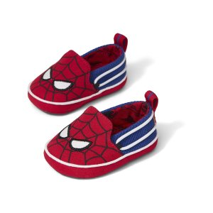 Red MARVEL Spider Face Print Tiny TOMS Crib Lima Layette