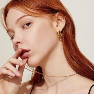 新品9折 £57收银质耳环W Concept 小众高质感首饰大促 INS风少女必备