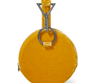 Azar yellow velvet clutch