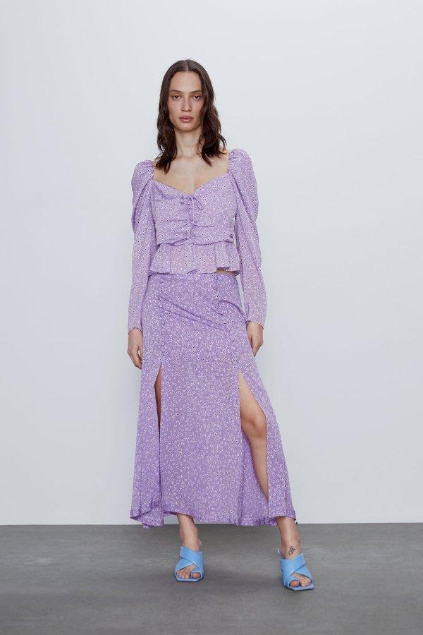 香芋紫雏菊上衣