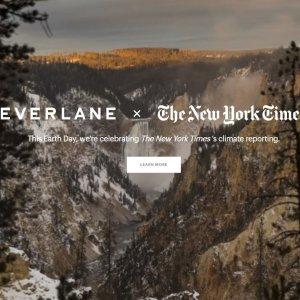 环保态度T恤$22 卫衣$50Everlane x New York Times 合作款地球日服饰上新