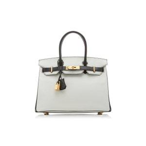 Hermes Vintage by Heritage Auctions28cm 黑白拼色Birkin 铂金包 Chevre皮
