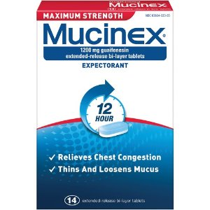 Mucinex 12小时 祛痰片,14片