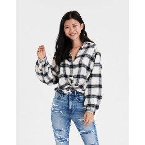 AEOAE Plaid Button Up Shirt
