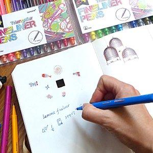 $3.99Fineliner Color Pen Set - 24 Colored Pens