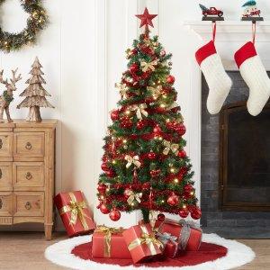 Holiday Time 带装饰7英尺圣诞树