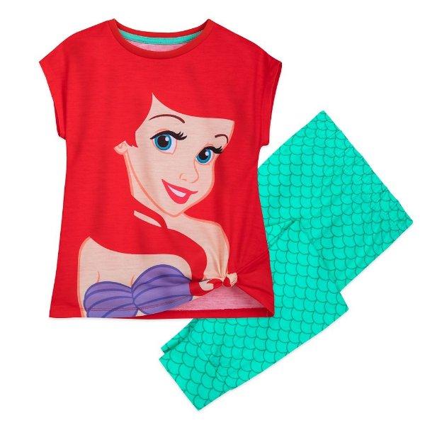 Ariel 图案 女童睡衣套装