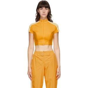 adidas Originals黄色短款上衣