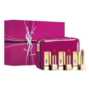 $171,满额送8件套YSL 方管口红3件套 送同品牌化妆包