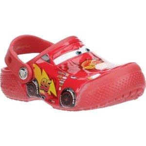 $13Crocs Boys' FunLab Cars K-Flame Clogs