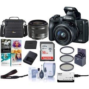 M50套机+配件仅需$599Canon M系列微单相机促销,VLOG当红热门机型