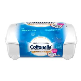 $2.49 旅行必备小物Cottonelle FreshCare 可冲洗清洁湿巾 42张