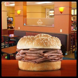 Free Classic Roast Beef SandwichPurchase of a Small or Large Drink @Arby's