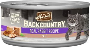 Merrick Backcountry Grain-Free Rabbit Pate Canned Cat Food, 5.5-oz, case of 24 - Chewy.com