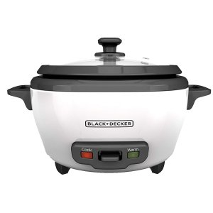 $13.49BLACK+DECKER RC506 6-Cup Cooked/3-Cup Uncooked Rice Cooker and Food Steamer, White @ Amazon