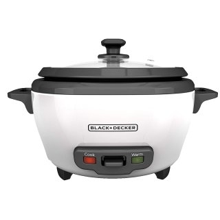 $12.99BLACK+DECKER RC506 6-Cup Cooked/3-Cup Uncooked Rice Cooker and Food Steamer