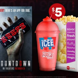 $521 oz. ICEE® and Cameo-size popcorn combo with Countdown