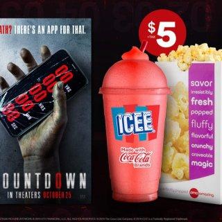 只需$5 和恐怖电影最搭AMC电影院 爆米花和ICEE饮料 看电影必备小食组合
