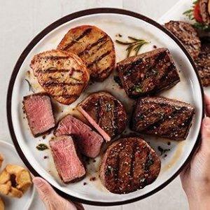 Omaha Steaks送12个牛排汉堡 顶级牛腰肉、牛排鸡胸肉、猪排等烧烤套餐