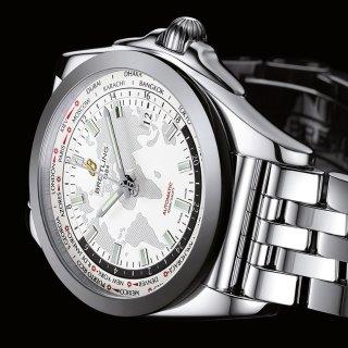 $3695 (原价$9000)史低价:Breitling Galactic Unitime 系列机械奢华商务男表