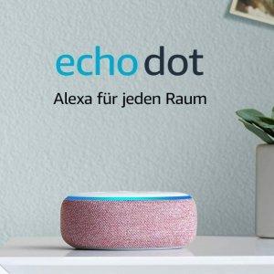 折后€48.72Echo Dot (3rd Gen) 智能音响 Alexa语音助手 4色可选