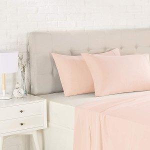 $10(原价$18.99)AmazonBasics 轻质超细纤维枕套2件装 标准款 粉红色
