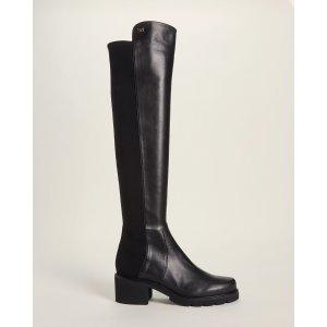 Stuart WeitzmanBlack Alina Knee-High Leather Boots