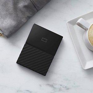 $59WD 2TB Black My Passport  Portable External Hard Drive