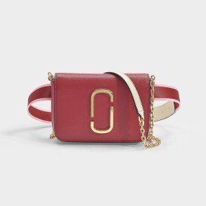 Marc JacobsHip Shot Belt Bag in Red Leather with Polyurethane Coating