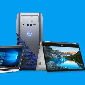 特价再8折 笔记本低至$299.2Dell 精选 笔记本、显示器、台式机热卖