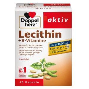 40粒€7.28 送父母送长辈Doppelherz 大豆卵磷脂 保护肝脏 降低胆固醇
