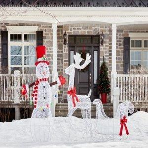 6.5折起 $16收10件套拐杖灯Lowe's 官网圣诞树 圣诞装饰品热卖 营造浓浓节日气氛