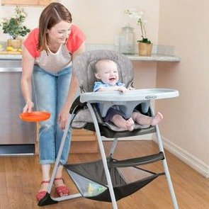 $49Graco Slim Snack High Chair, Whisk