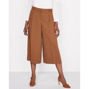 高腰7分阔腿裤